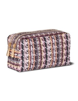 Sonia Kashuk™ Cosmetic Bag Double Zip Organizer Broken Houndstooth by Shop This Collection