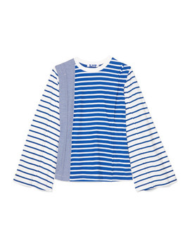 Striped Cotton Jersey Top by Sjyp