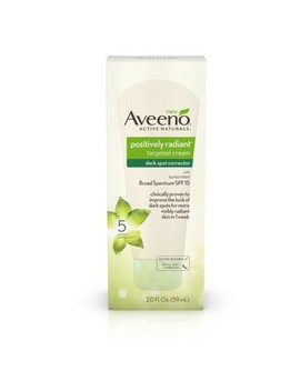 Aveeno Positively Radiant Dark Spot Corrector Cream With Total Soy Complex   2.0 Fl Oz by Aveeno