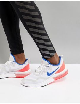 Nike Running Air Max Fury Trainers In White Aa5739 141 by Nike