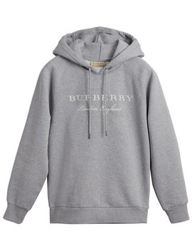 Embroidered Hooded Sweatshirt by Burberry