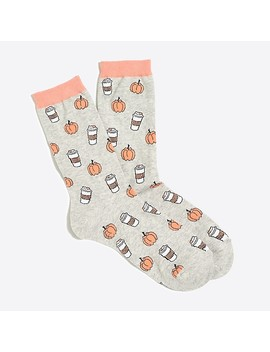 Pumpkin Spice Latte Trouser Socks by J.Crew