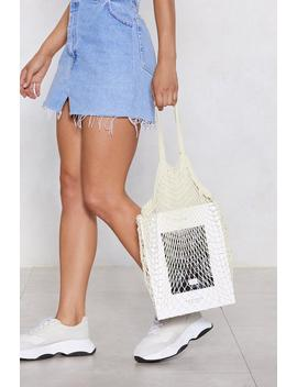Want Tie The Net Tote Bag by Nasty Gal