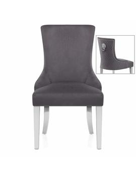 Atlantic Shopping Fontaine Chair Grey Velvet by Amazon