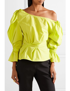 Michelle Off The Shoulder Cotton Poplin Blouse by Rejina Pyo