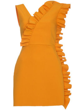 Fitted Sleeveless Ruffle Dress by Msgm