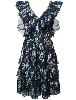 Floral Print Ruffle Dress by Rebecca Taylor