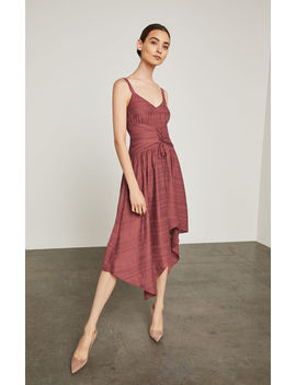Lace Up Asymmetrical Dress by Bcbgmaxazria
