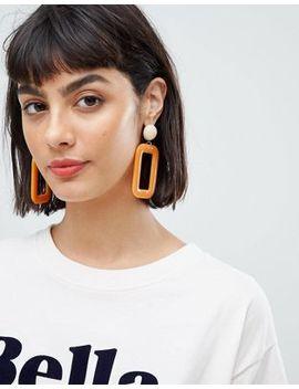 Mango Resin Rectangle Earrings by Mango