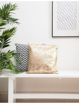 Chickidee Gold Suede Effect Cushion by Chickidee