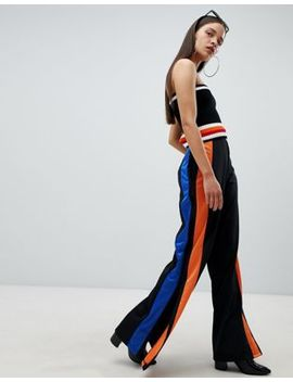 The Ragged Priest Wide Leg Track Pants With Side Stripe by The Ragged Priest