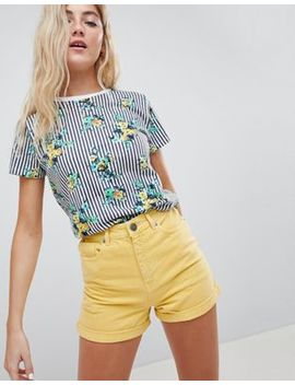 Asos Design T Shirt In Floral Stripe Print by Asos Design