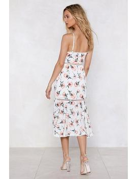 Floral I Care Midi Dress by Nasty Gal
