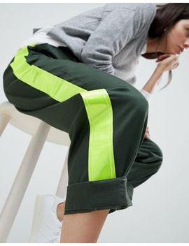 Asos Design   Skinny Wijduitlopende Broek Met Zijstreep by Asos