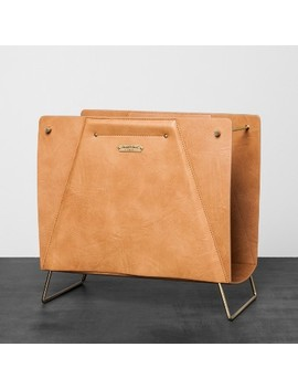 Faux Leather File Sorter   Brown   Hearth & Hand™ With Magnolia by Hearth & Hand™ With Magnolia