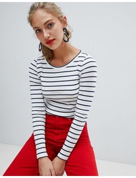 Esprit Long Sleeved Striped Top by Esprit