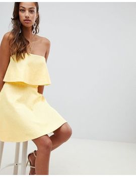Asos Design Bonded Lace Mini Skater Dress by Asos Design