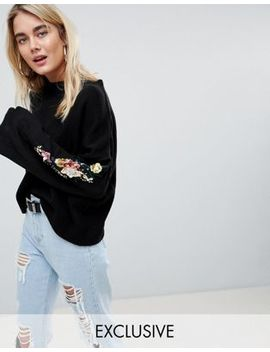 Rokoko Festival Oversized Jumper With Embellished Sleeve by Rokoko
