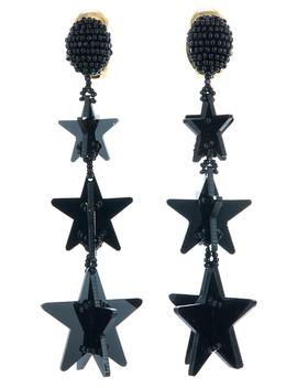 Falling Stars Drop Earrings by Oscar De La Renta