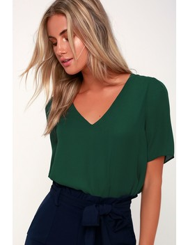 Remedy Forest Green Short Sleeve Top by Lulu's