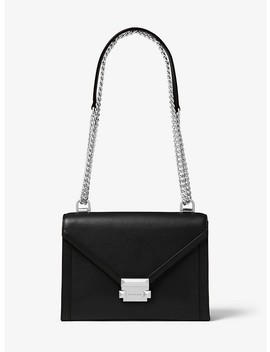 Whitney Large Leather Convertible Shoulder Bag by Michael Michael Kors