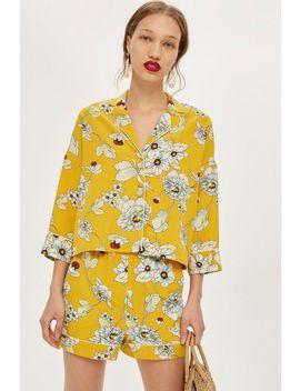 Floral Pyjama Shorts by Topshop