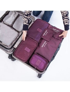 6 Pcs/Set Square Travel Luggage Storage Bags Clothes Organizer Pouch Case by Outad