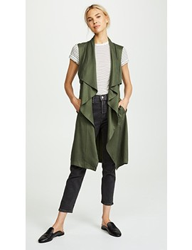 Filmore Drape Front Military Vest by Cupcakes And Cashmere