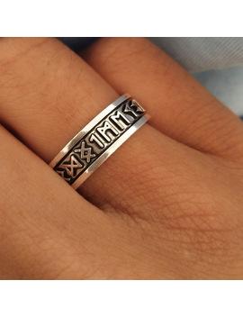 Suteyi 1pcs Viking Man's Rings Custom Rune Letter Signet Ring Wedding Nordic Vintage Bague Men Jewelry Accessories Women Gift by Ali Express