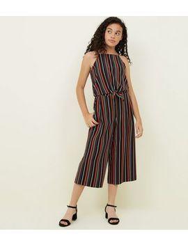 Teens Black Stripe Tie Front Cami by New Look