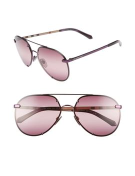 Trench 61mm Aviator Sunglasses by Burberry