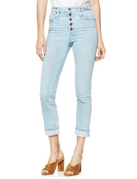 Sarah Button Fly High Waist Slim Jeans by Paige