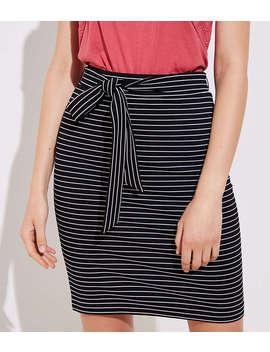 Striped Tie Waist Pencil Skirt by Loft