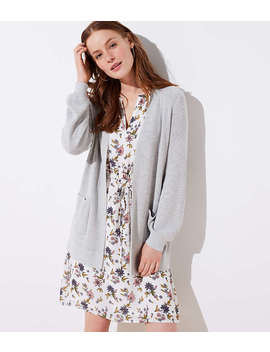 Blouson Pocket Open Cardigan by Loft