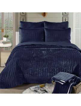 Brielle Velvet Quilt Set by Brielle