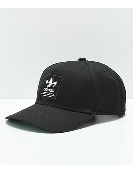 Adidas Trefoil Patch Black & White Snapback Hat by Adidas