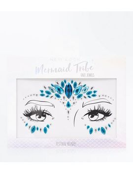 Blue Mermaid Face Gems by New Look
