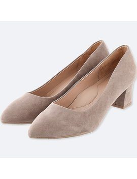 Women Chunky Heeled Shoes by Uniqlo