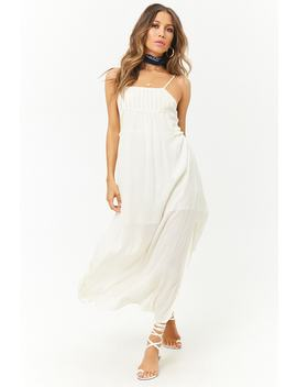 An M Metallic Striped Ruffle Trim Maxi Dress by Forever 21