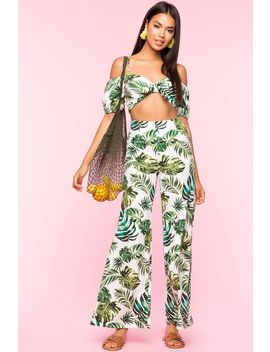 Tropical Vibe 2 Piece Pant Set by A'gaci