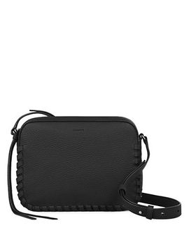 Whipstitched Trim Leather Crossbody Bag by Allsaints