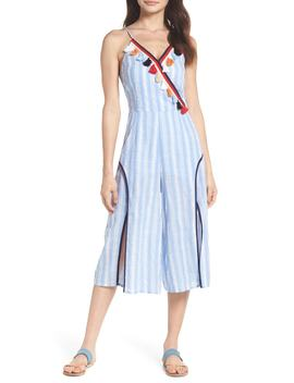 Stripe Fringe Jumpsuit by Thml