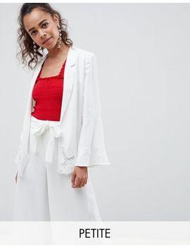 River Island Petite Lace Detail Blazer & Wide Leg Culottes Two Piece by Asos Brand