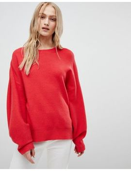 Asos Design Sweater In Oversize With Banana Sleeve by Asos Design