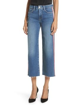 Danica Side Stripe Crop Wide Leg Jeans by L'agence
