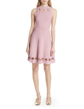 Bow Detail Knit Fit & Flare Dress by Ted Baker London