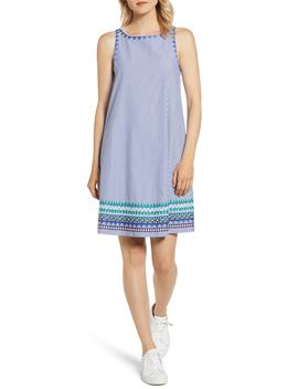 Geo Prep Embroidered Shift Dress by Vineyard Vines