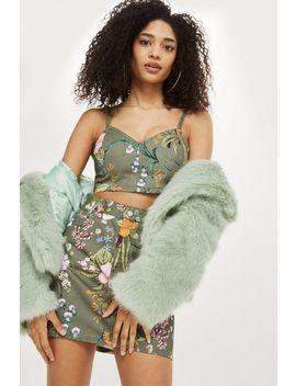 Petite Hawaii Print Bralet by Topshop