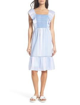 Spencer Stripe Ruffle & Lace Sundress by Heartloom