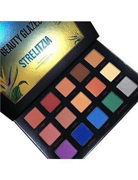 15 Colors Strelitzia Beauty Glazed Matte Shimmer Highlight Eyeshadow Waterproof Eyeshadow Palette Makeup Eye Shadow by Beauty Glazed